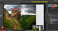 Content Aware Scale, curs Adobe Photoshop CC, adaugarea de continut la Scale Image